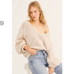 NEW...Free People V-Neck Sweater